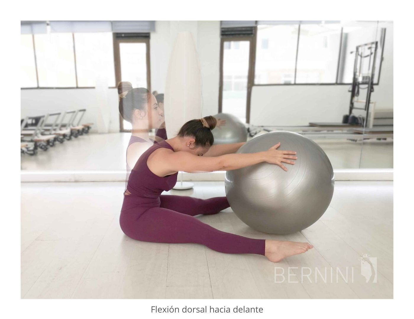 movilidad columna fitball pilates mat bernini wellness