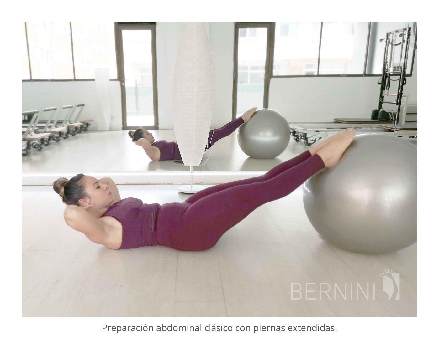 abdominales clásicos fitball pilates mat bernini wellness_