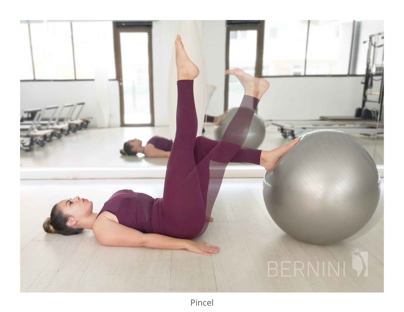 pincel fitball pilates mat bernini wellness